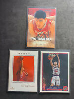 YAO MING  SKYBOX  AUTOGRAPHIC / FLEER / TOPPS 3 CARD LOT 2003