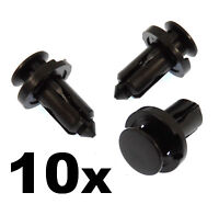 10x Plastic Bumper & Trim Clips- Rivet Clips Fasteners Bonnet, Grille etc
