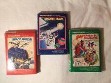 Mattel Intellivision Space Hawk - Space Battle - Las Vegas Poker & Blackjack