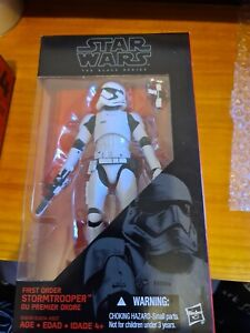 "Star Wars The Black Series  #04 FIRST ORDER STORMTROOPER 6"" New & Sealed DH"