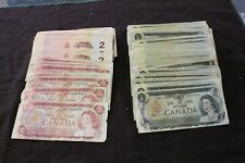 Canada Bank note Lot $1 1973 $2 1974 $2 1986 face Value $ 374