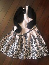 Girls Party Wear Dress With Velvet Jacket/Coat Size 6