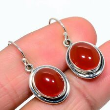 Red Onyx  Earring 925 Solid Silver Gemstone Jewelry 1.18