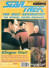 WoW! STAR TREK TNG Poster Magazine #52 Klingon War! Ensign Ro! Silicon Avatar!