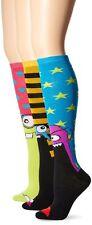 TeeHee Monster Socks Fun Socks 3-Pair Pack Cotton Knee High Socks