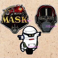 Lot of 3 M.A.S.K. Patches Mask Logo T-Bob Matt Trakker Venom Thunder Hawk