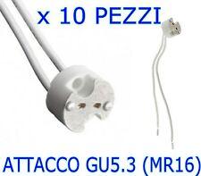 PORTA LAMPADA GU5.3 (MR16) 12v ATTACCO PER FARETTI LAMPADINE A LED KIT 10 PEZZI