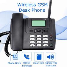 Wireless GSM Desk Phone SIM Card Mobile Home Office Desktop Black Telephone