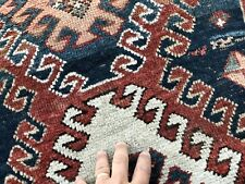 Auth: 19th C Antique Borjalou Kazak Caucasian Rug    Rare RED Organic 4x7    NR