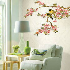Peach Blossom Flowers Birds Branch Removable Mural Wall Stickers Decal Decor AU