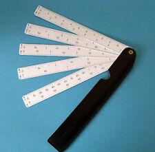 Maßstab Reduktions-Lineal Reduktions-Massstab Fächermaßstab mit Schuber ,