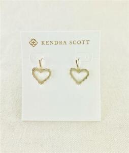 Kendra Scott Sophee Heart Gold Earrings