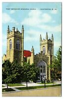1954 First Methodist Episcopal Church, Huntington, WV Postcard *5F1