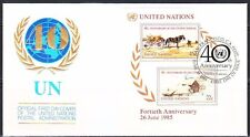 United Nations 1985 FDC Sc 449 Oil paintings by American artist Andrew Wyeth VF