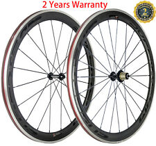 700C Road Bike Carbon Wheels 50mm Aluminum/Alloy Brake Carbon Wheelset Clincher