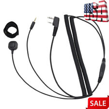 Bluetooth Helmet Headset Connecting Cable for Kenwood Baofeng Two Way Radio Us