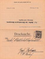 Doppelpostkarte von Stuttgart nach Grossbottwar aus dem Jahr 1902