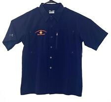 Under Armour Bengals NFL Loose Heatgear Mens Large Blue Button Shirt Vented