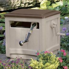 Hose Reel Suncast Foot Capacity Garden Storage Hideaway 225 Ft Box Beige Box New