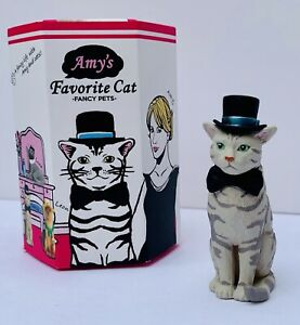 Amy's Favorite Cat Fancy Pets Charlie Figure 1:6 Marble Grey Tabby Dreams New