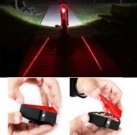 Bicycle Cycling Bike Rear Tail Safety Warning 8 LED+ 2 Laser Flashing Lamp Light