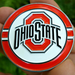 PREMIUM NCAA Ohio State Buckeyes Poker Card Guard Golf Marker Challenge Coin NEW