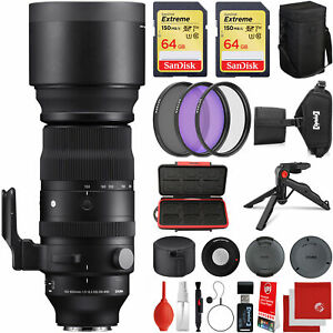 Sigma 150-600mm F5-6.3 DG DN OS Sports Lens for Sony E-Mount + 128GB Bundle