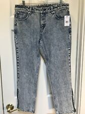 NWT VOLCOM 1991 STRAIGHT Zip ANKLE  FIT Womens JEANS Blue SIZE 29 Acid Wash