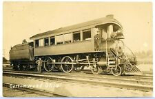 "RPPC REAL PHOTO POSTCARD RAILROAD TRAIN  COLLINWOOD OHIO N.Y.C  ""CLEVELAND"" 1910"