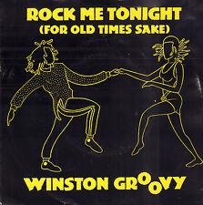 WINSTON GROOVY  – Rock Me Tonight (1985 REGGAE VINYL SINGLE 7' HOLLAND)
