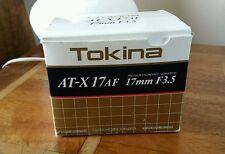 Tokina 17 mm F/3.5 Lentille Pour Nikon Nikkor Mount-Coffret & RARE -