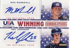 2013 Team USA Baseball MAC MARSHALL/KEL JOHNSON Dual Autograph Auto 10/50