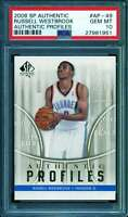 Russell Westbrook Rookie Card 2008 Sp Authentic Authentic Profiles #AP-49 PSA 10