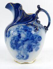Doulton Burslem Water Jug Gloire De Dijon Blue&White Roses design c.1891-1902