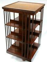 Antique Victorian X-Large Mahogany Revolving Bookcase [5750]