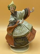 Vintage Ceramic Rotating Music Box, Dancing Girl, Unknown Tune or Maker