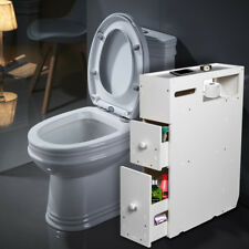 Us Rolling Bathroom Toilet Cabinets Unit Caddy Holder w/2Storage Drawers &Wheels
