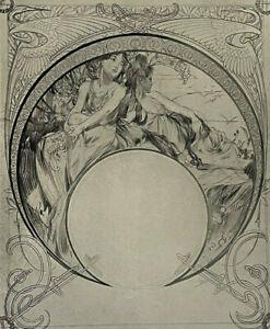 ALPHONSE MUCHA Original FINE ART PRINT PORTFOLIO Dated 1903 ART NOUVEAU Poster