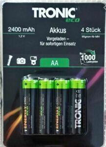 Duracell TRONIC Rechargeable Ultra Plus Batteries AA 2400 mAh High Capacity