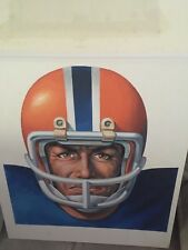 Frank Saso Original Illustration Of Florida Gator Football Player Listed Artist