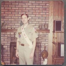 Vintage Photo Young Man in Boy Scout Uniform Order of Arrow 753524