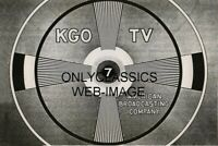 1949 AMERICAN BROADCASTING CO KGO-TV TEST PATTERN PHOTO TELEVISION TRANSMISSION