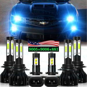 For Chevy Camaro 1998 1999 2000 2001 2002-6 uds faros LED+bombillas antiniebla