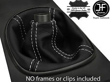 WHITE STITCH MANUAL REAL LEATHER SHIFT BOOT FITS ACURA RSX TYPE S TYPE R 02-06