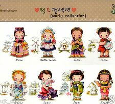 """""""Traditional Costumes of the World-Girl""""cross stitch pattern leaflet.SODA SO-G22"""