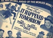 Lobby Card 1948rr IT HAPPENED TOMORROW Linda Darnell