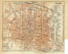 Antique map plan Bologna Italy 1928 mappa / stampa antica Italia