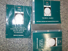 1998 FORD TAURUS Service Shop Repair Workshop Manual Set OEM W EVTM + Facts BK