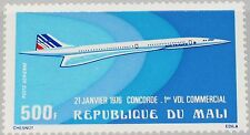 Mali 1976 518 c270 1st Flight líneas vuelo concorde Aircraft avión plane mnh
