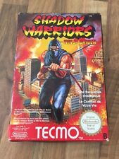 Nes:    SHADOW WARRIORS    NINJA GAIDEN      PAL  EUR